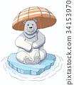 ice, bear, animal 34153970