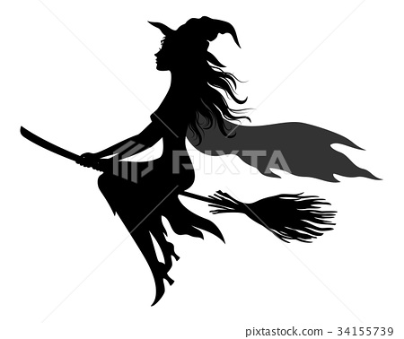 Halloween Ghosts Silhouettes 34155739