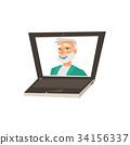 vector, male, laptop 34156337