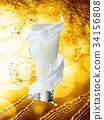 cream, bottle, gold 34156808