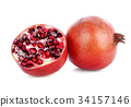 pomegranate, pomegranates, red 34157146