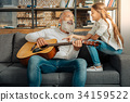 elderly senior guitar 34159522