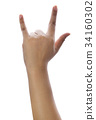 Female hand with I Love You sign  34160302