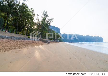 Empty Tropical Beach Seaside View Sea Vacation 34161814