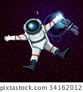 Spaceman or cosmonaut, astronaut in space 34162012