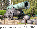 The ancient biggest cannon in Moscow Kremlin 34162822