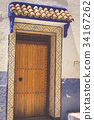 Traditional moroccan door detail in Chefchaouen, 34167262