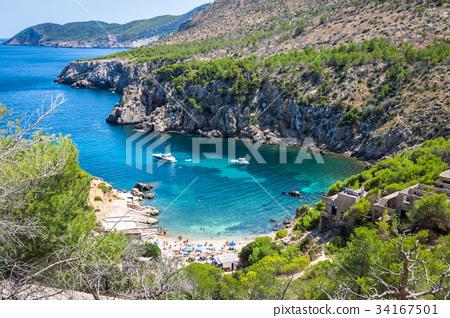 Ibiza Punta de Xarraca turquoise beach paradise 34167501