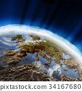 europe, earth, globe 34167680