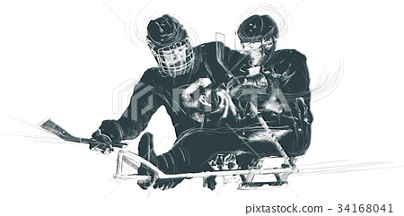 Athletes with physical disabilities - ICE HOCKEY 34168041