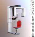 坐式牙科全景/ CT組合成像系統的圖像。原創設計。 34169637