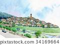 住宅區希爾鎮托萊多山都市風景都市風景圖像 34169664