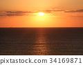 日出 朝阳 海洋 34169871