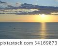 日出 朝阳 海洋 34169873