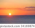 日出 朝阳 海洋 34169874