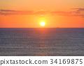 日出 朝阳 海洋 34169875