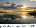 早晨 渔港 日出 34169991