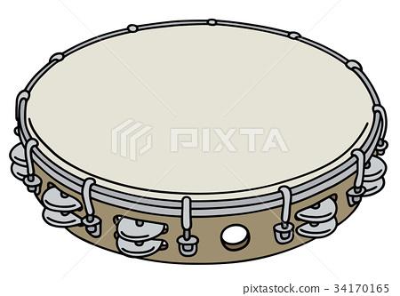 Classic wooden tambourine 34170165