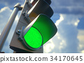 Traffic Light Green 34170645