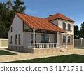 房屋 房子 3d插画 34171751