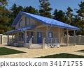 房屋 房子 3d插画 34171755