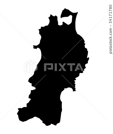 Tohoku region silhouette illustration 34171780