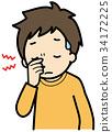 Tired eyes 34172225