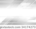 배경, 회색, 벡터 34174273