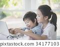 亚洲 亚洲人 儿童 34177103