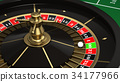 賭場輪盤賭圖像 34177966