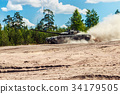 Main battle tank are going to dust on the ground   34179505