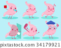 cute cartoon stomach 34179921