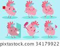 cute cartoon heart 34179922