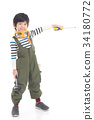 Cute Asian child with construction tools 34180772