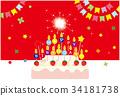 postcard, birthday, birthdays 34181738