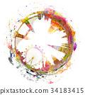 London skyline in watercolors  34183415