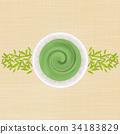 Matcha和茶葉背景 34183829