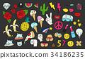 Fashion patch badges set 34186235