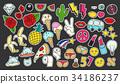 Fashion patch badges set 34186237