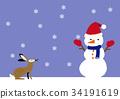雪人 寒冷 冬天 34191619
