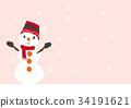 雪人冬天聖誕節季節 34191621