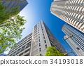 타워 아파트의 도시 풍경 34193018