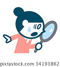 调查寸镜的妇女 34193862