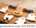 halloween, cookie, confectionery 34195081