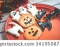 halloween, cookie, confectionery 34195087