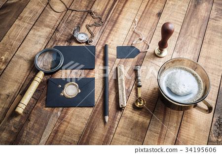 Vintage stationery elements 34195606
