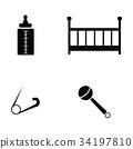 Baby icons set. 34197810