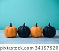 Halloween glitter pumpkin jack o lantern  34197920