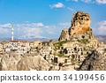 Ortahisar Castle in Cappadocia, Turkey 34199456