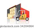 cargo container vector 34204064